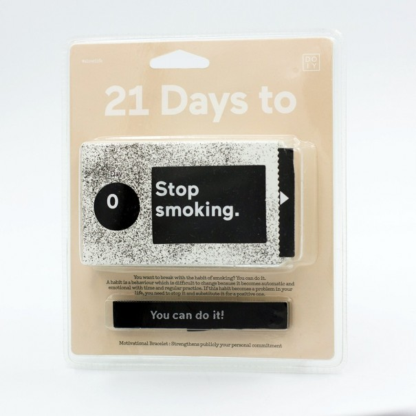 21 Days to Stop Smoking Ticket Box