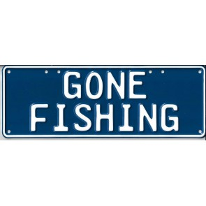 Gone Fishing Novelty Number Plate