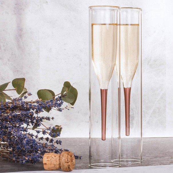 Inside Out Champagne Flutes - Set of 2