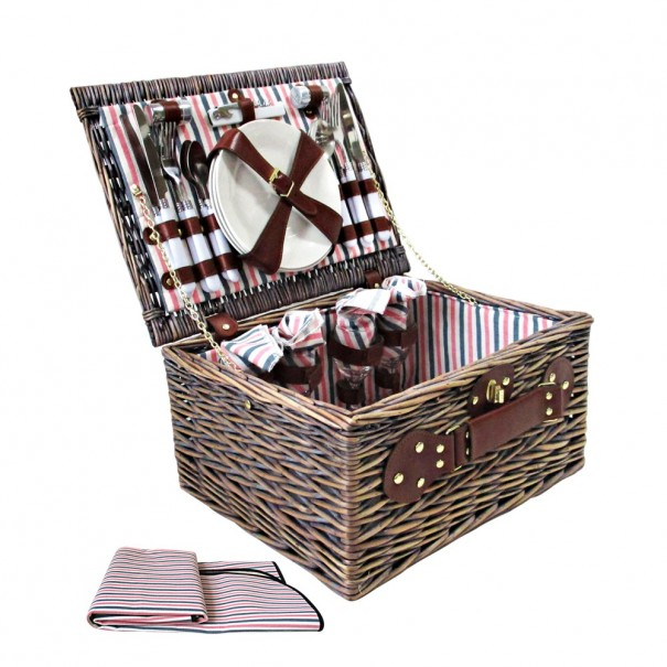 Picnic Basket with Accessories for 4 Persons
