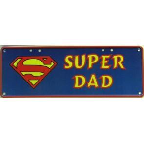 Super Dad Number Plate