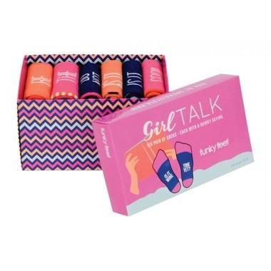 Funky Feet Girl Talk Socks