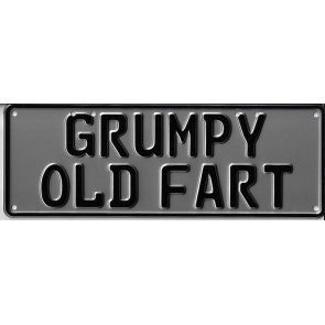 Grumpy Old Fart Novelty Number Plate