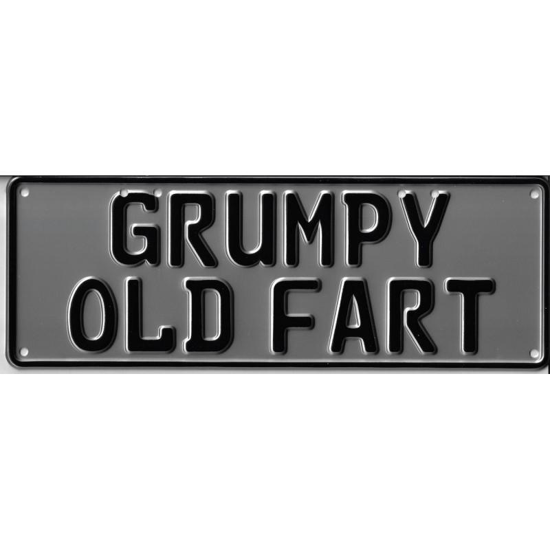 Grumpy Old Fart Novelty Number Plate