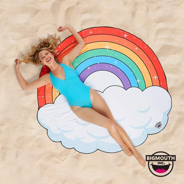 Gigantic Rainbow Beach Towel