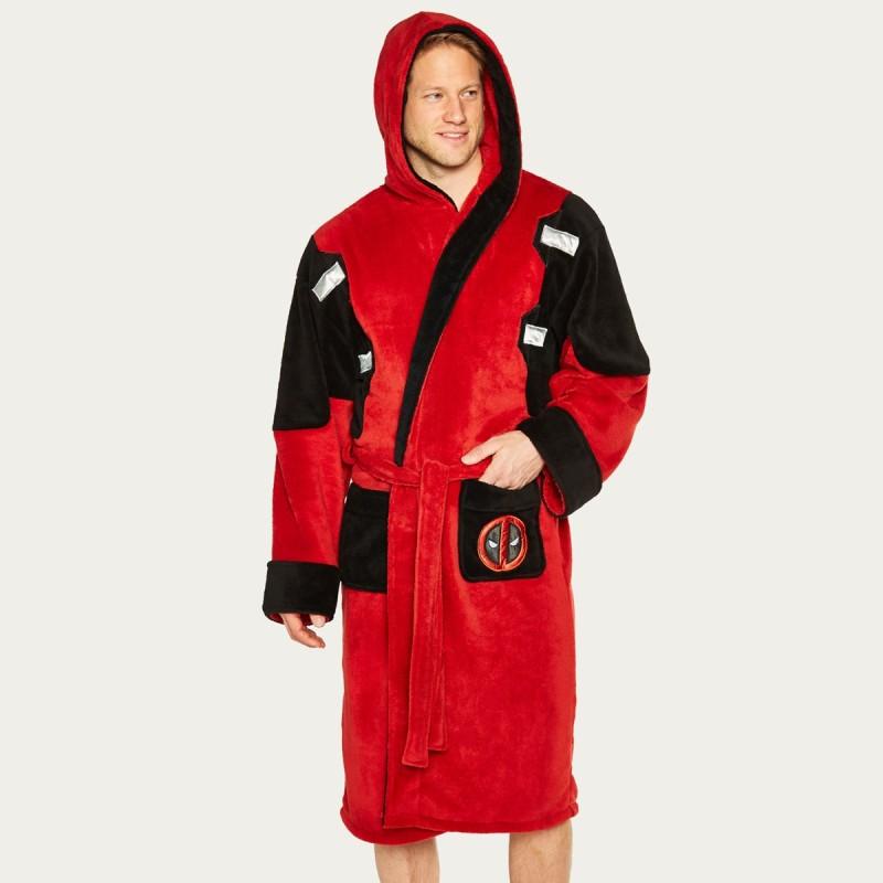 Deadpool Hooded Fleece Bathrobe