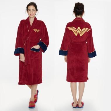Wonder Woman Fleece Bathrobe