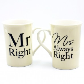 Mr. Right & Mr's Always Right Pair Mug