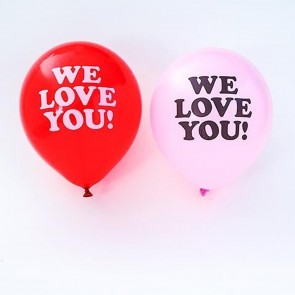 We Love You Balloons - Pack of 10