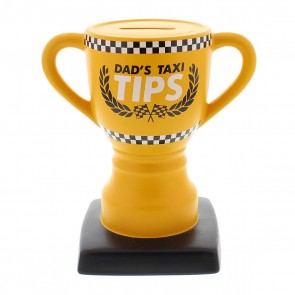 Dad's Taxi Fund Trophy Money Bank