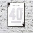 40 at 40 Scratch & Reveal Challenge Poster