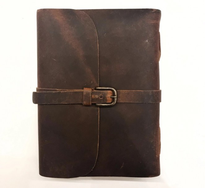 Buckle Genuine Leather Journal by Indepal Leather - 1