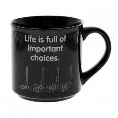 Golf Important Choices Mug - 1
