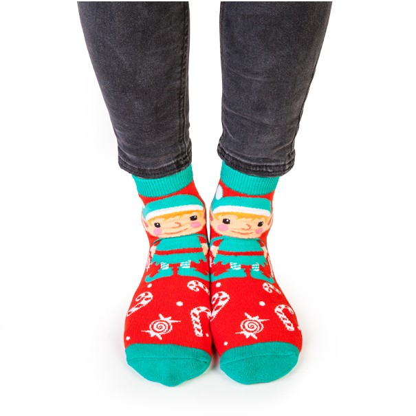 Christmas Elf Feet Speak Socks - 1