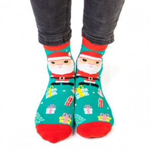 Christmas Santa Feet Speak Socks - 1
