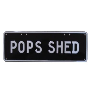 Pop's Shed Novelty Number Plate