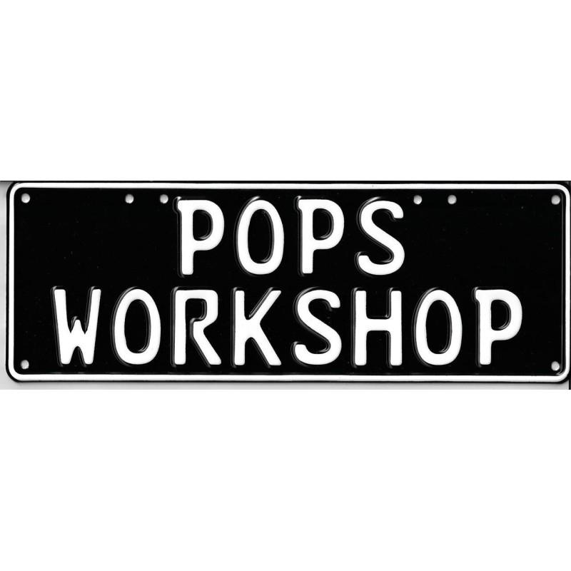 Pop's Workshop Novelty Number Plate - 1