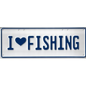 I Love Fishing Novelty Number Plate - 1