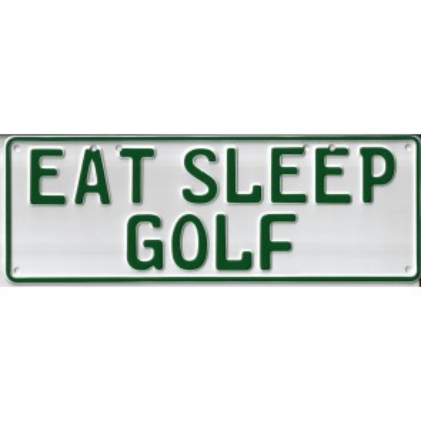 Eat Sleep Golf Novelty Number Plate - 1
