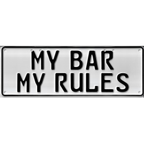 My Bar, My Rules Novelty Number Plate - 1