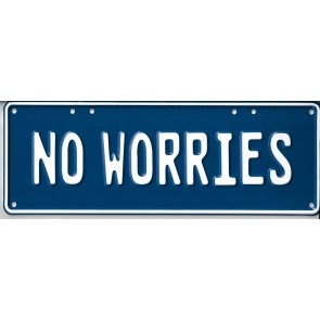 No Worries Novelty Number Plate - 1