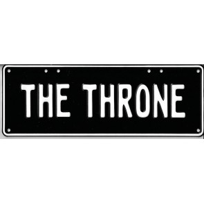 The Throne Novelty Number Plate - 1