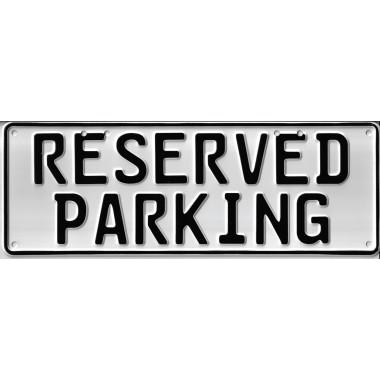 Reserved Parking Number Plate Signage - 1