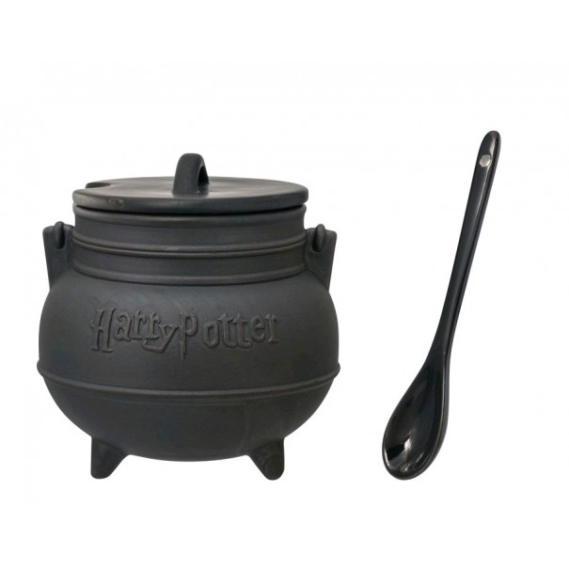 Harry Potter - Cauldron with Lid & Spoon Soup Mug - 1
