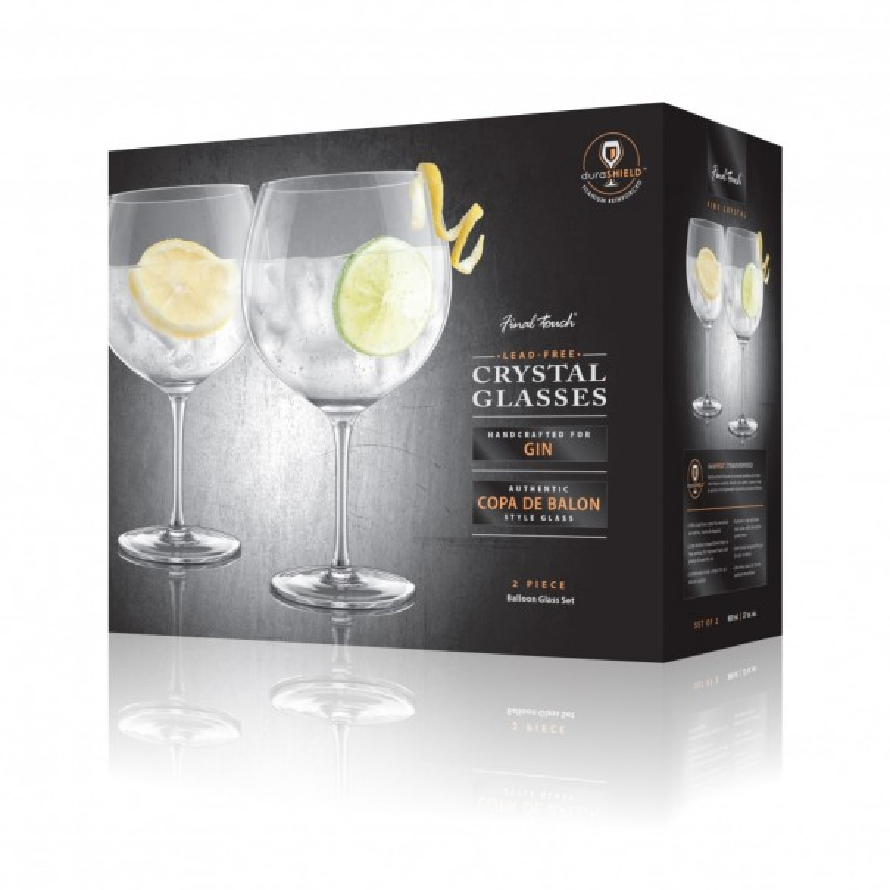 Copa De Balon Gin Lead-Free Crystal Glasses Set of 2 - 1