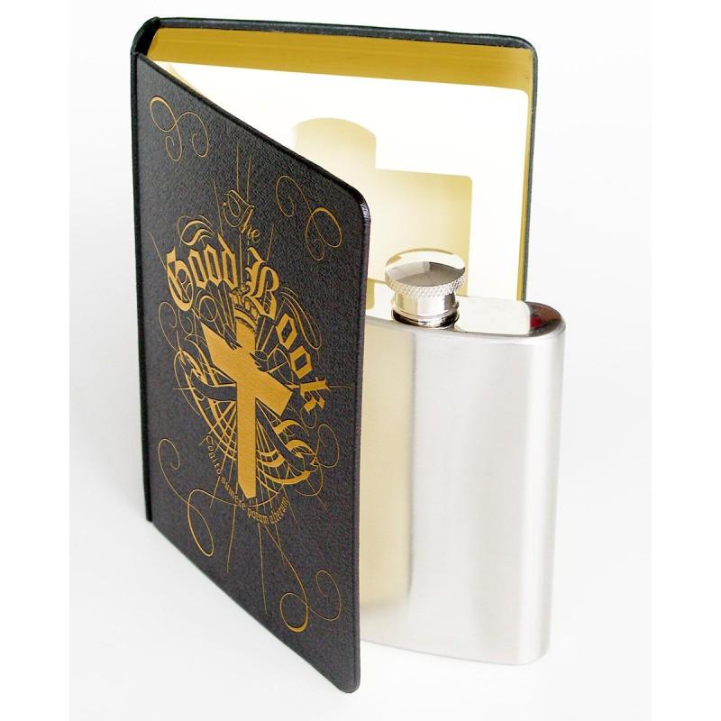Secret Flask In A Book - 1