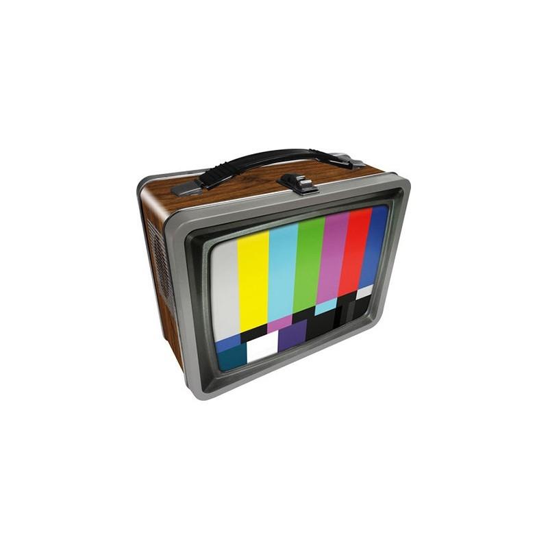 Retro TV Tin Carry All Fun Box or Lunch Box - 1