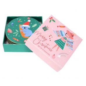Christmas Angel Coaster Set - 1