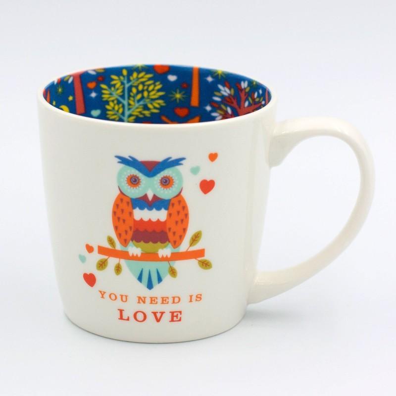 Owl You Need Is Love Inside Out Mug - 1