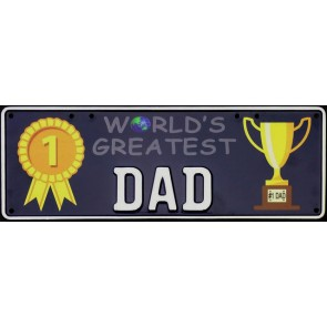 World's Greatest Dad Novelty Number Plate - 1