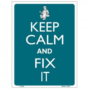 Keep Calm and Fix It Tin Sign