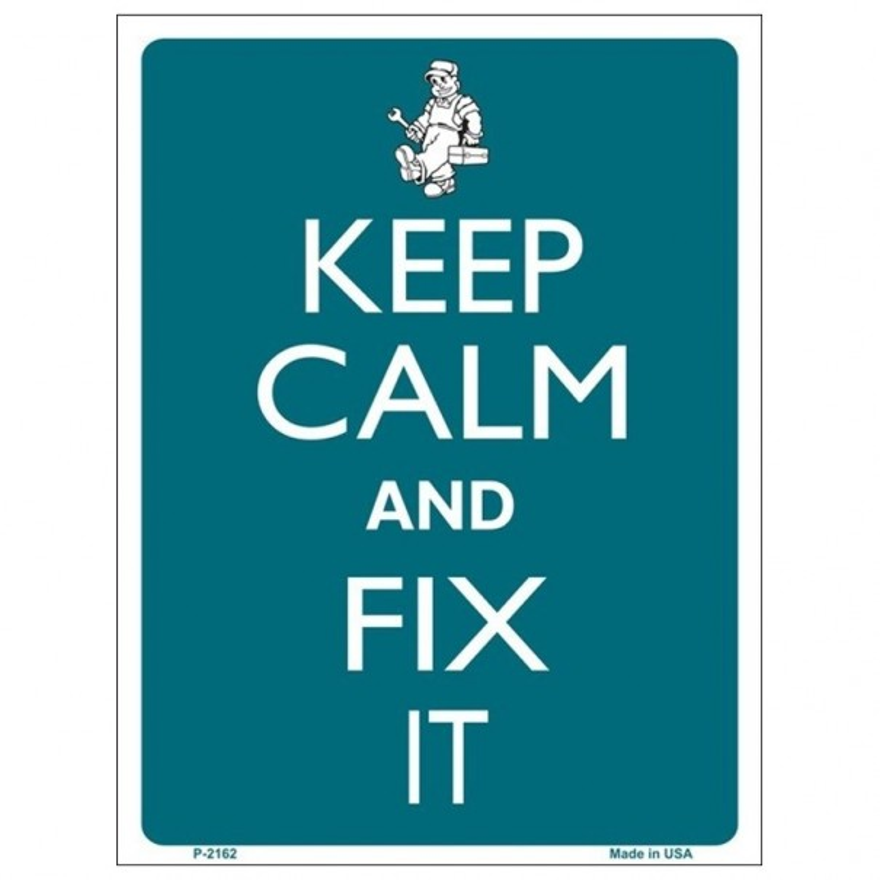 Keep Calm and Fix It Tin Sign