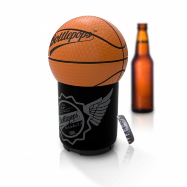 Bottlepops Original Basketball Talking Bottle Opener - 1