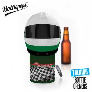 Bottlepops Racing Helmet Talking Bottle Opener - 1