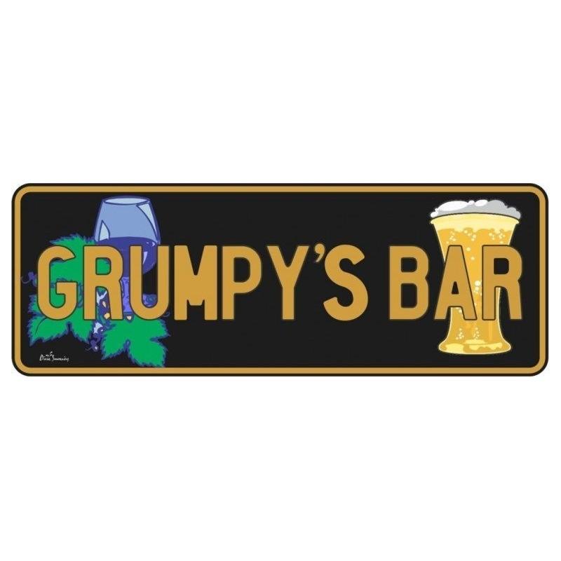 Grumpys Bar Novelty Number Plate