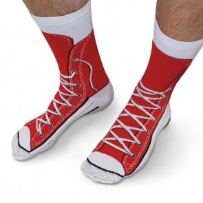 Red Sneaker Socks - 2