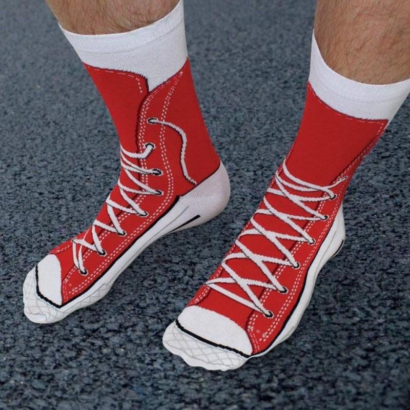 Red Sneaker Socks - 1