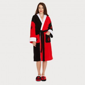 Harley Quinn Fleece Bathrobe