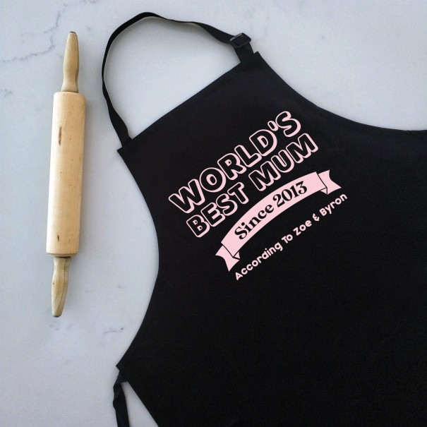 World's Best Mum - Personalised Apron for Women