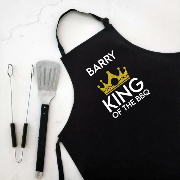 King of The BBQ - Personalised Apron