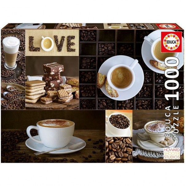 Love for Coffee 1000 Pieces Jigsaw Puzzle - 1