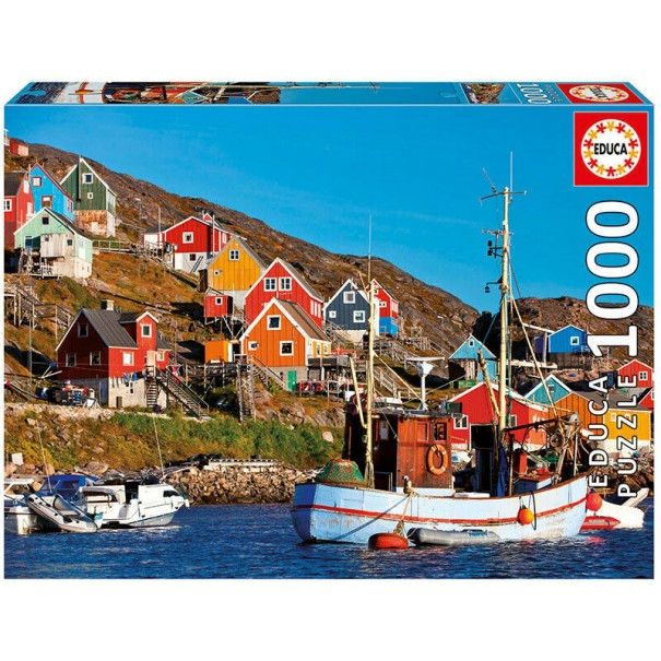 Nordic Houses 1000 Pieces Jigsaw Puzzle - 1