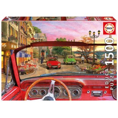 Paris In Car 1500 Pieces Jigsaw Puzzle - 1