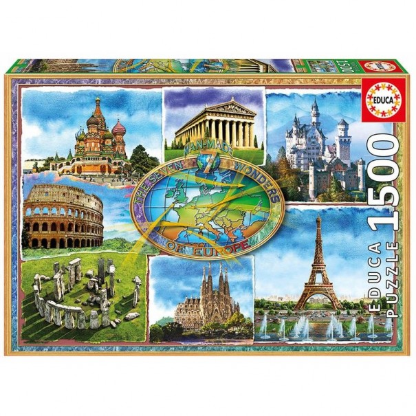 Seven Wonders of Europe 1500 Pieces Jigsaw Puzzle - 1