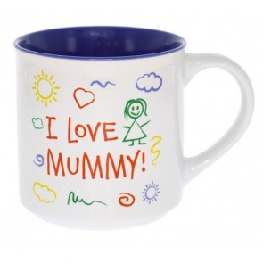 I Love Mummy Kid Art Mug - 1