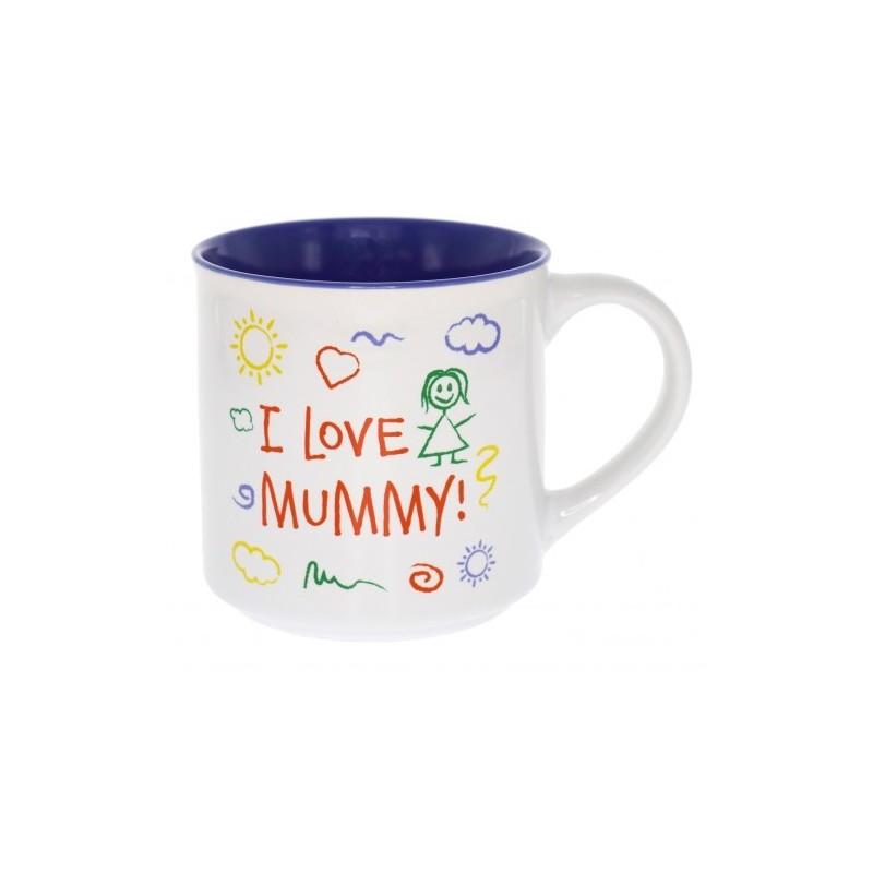 I Love Mummy Kid Art Mug - 1